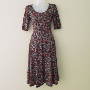 NWOT LuLaRoe Nicole Dress w/ Paisley & Feathers